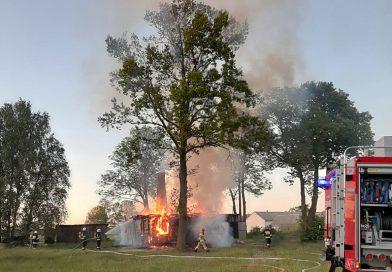 Pożar domu jednorodzinnego w miejscowości Ulatowo-Słabogóra