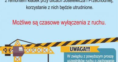 Utrudnienia w ruchu drogowym przy ul. Joselewicza i Przechodniej w Przasnyszu