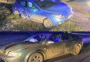 Zdarzenie z udziałem dwóch samochodów osobowych w Turowie