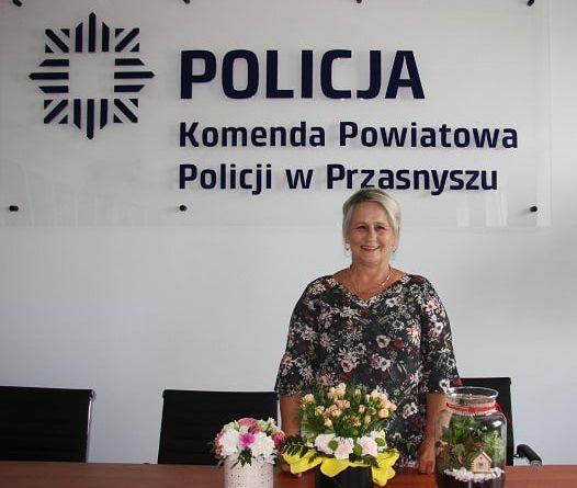 Pracownik cywilny KPP w Przasnyszu – Barbara Bakuła przeszła na emeryturę